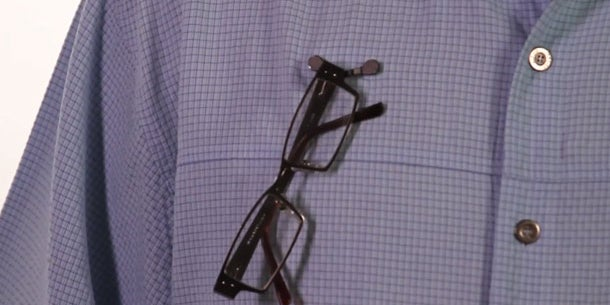 ReadeRest, magnetic reading-glasses holder