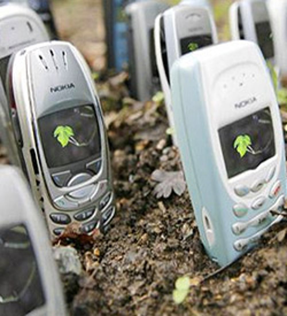Recycle old cell phones.