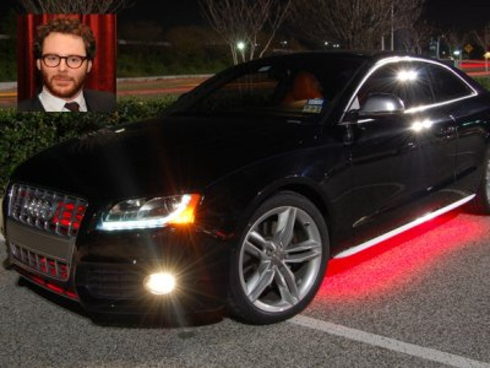 Sean Parker likes to have two cars on hand