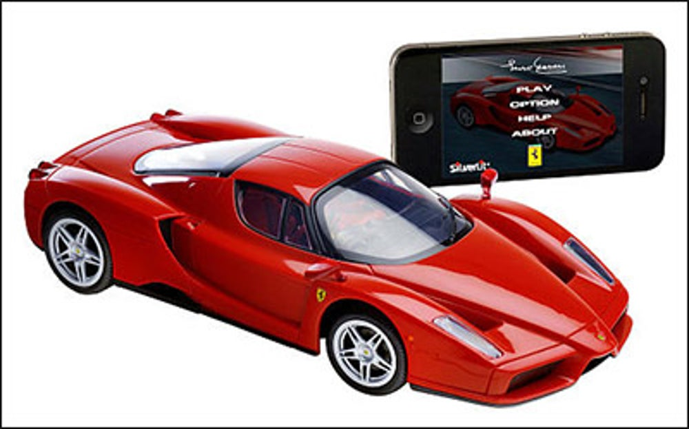 A smartphone-controlled racecar
