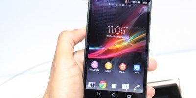 Sony Xperia Z has a giant screen and is water resistant