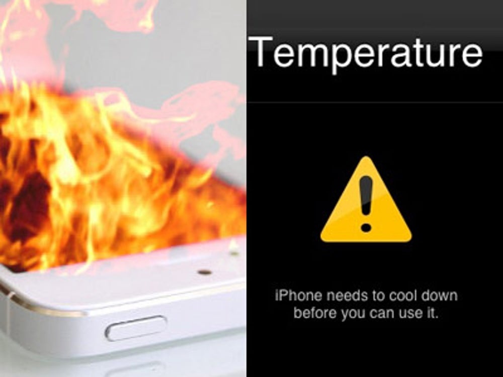 Turn off your phone if it's hot to the touch.