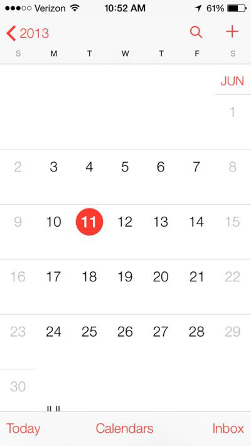 The new calendar app.