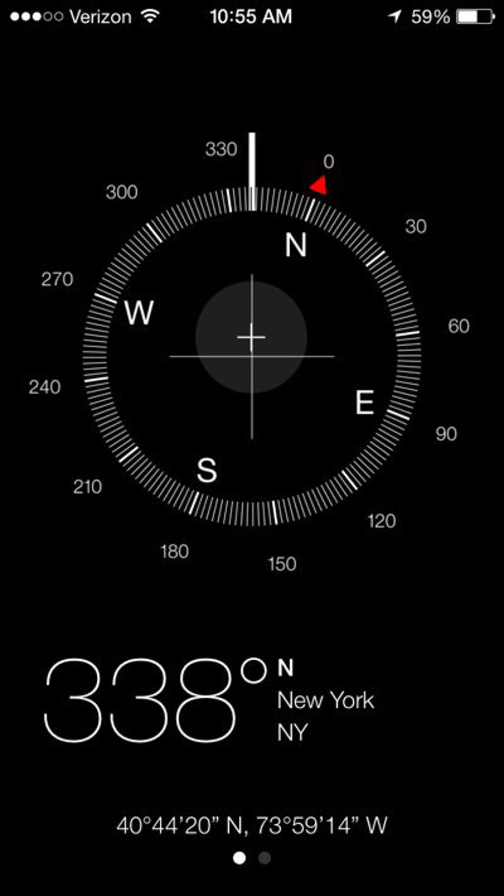 The new compass app.