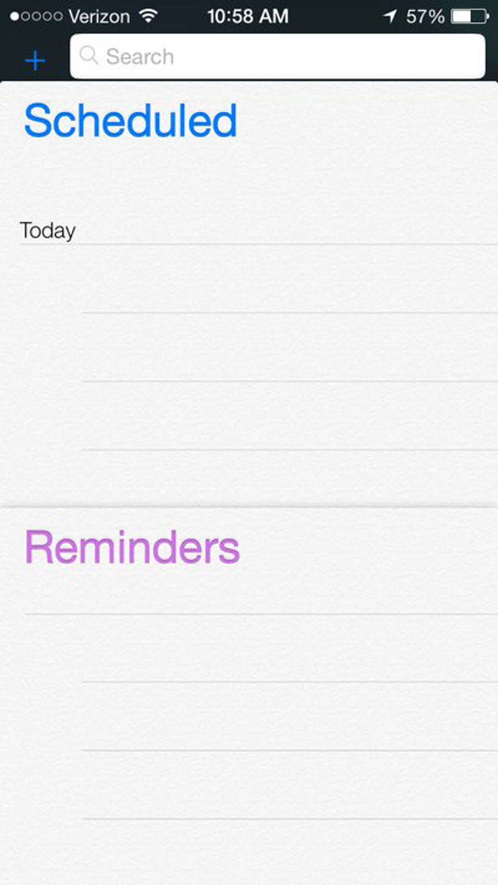 The new Reminders app.