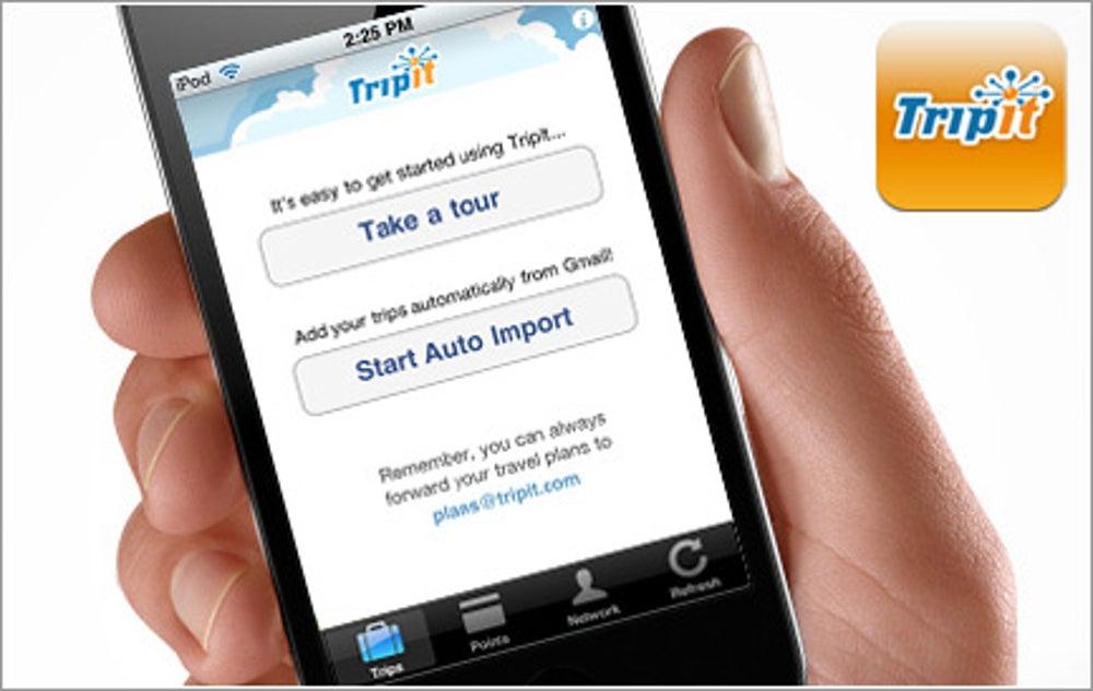 App:  TripIt Traveling