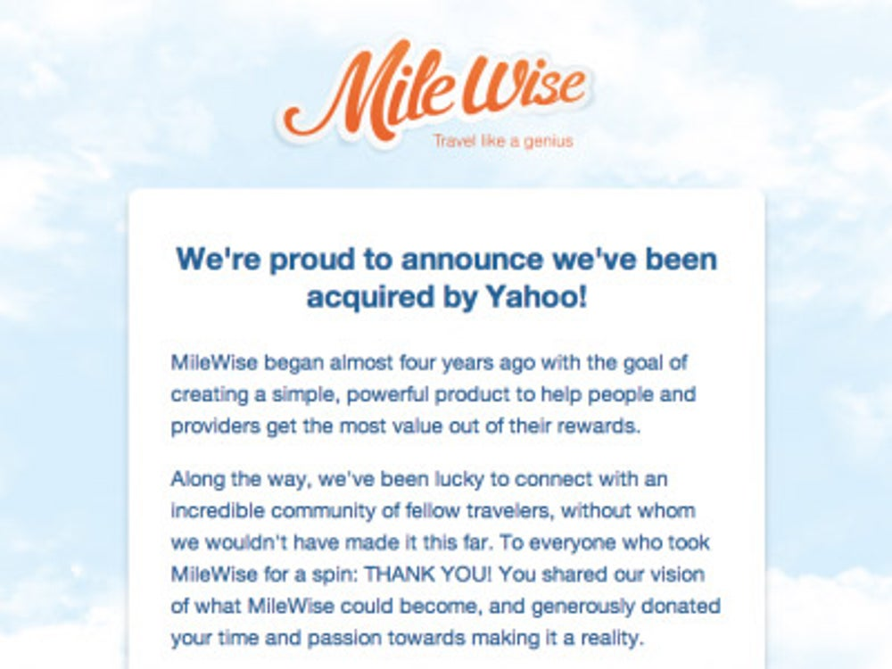 On the same day it announced GoPollGo, it also announced the purchase of Milewise.