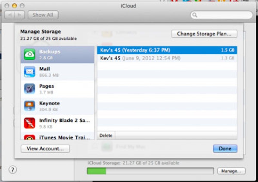 Check how much storage space you have left.