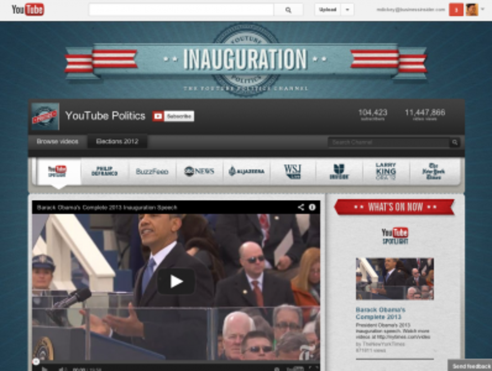 YouTube became the go-to place for the presidential election in August 2012