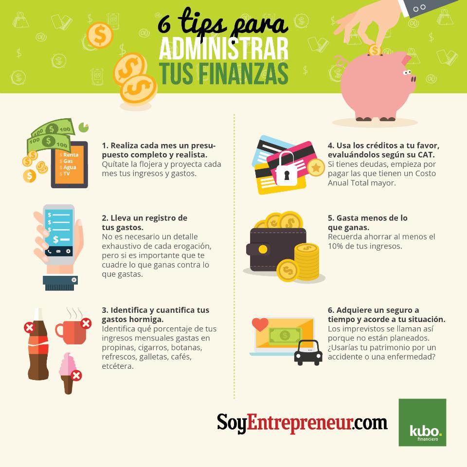 Infograf a 6 tips para administrar tus finanzas - Economia domestica consejos ...