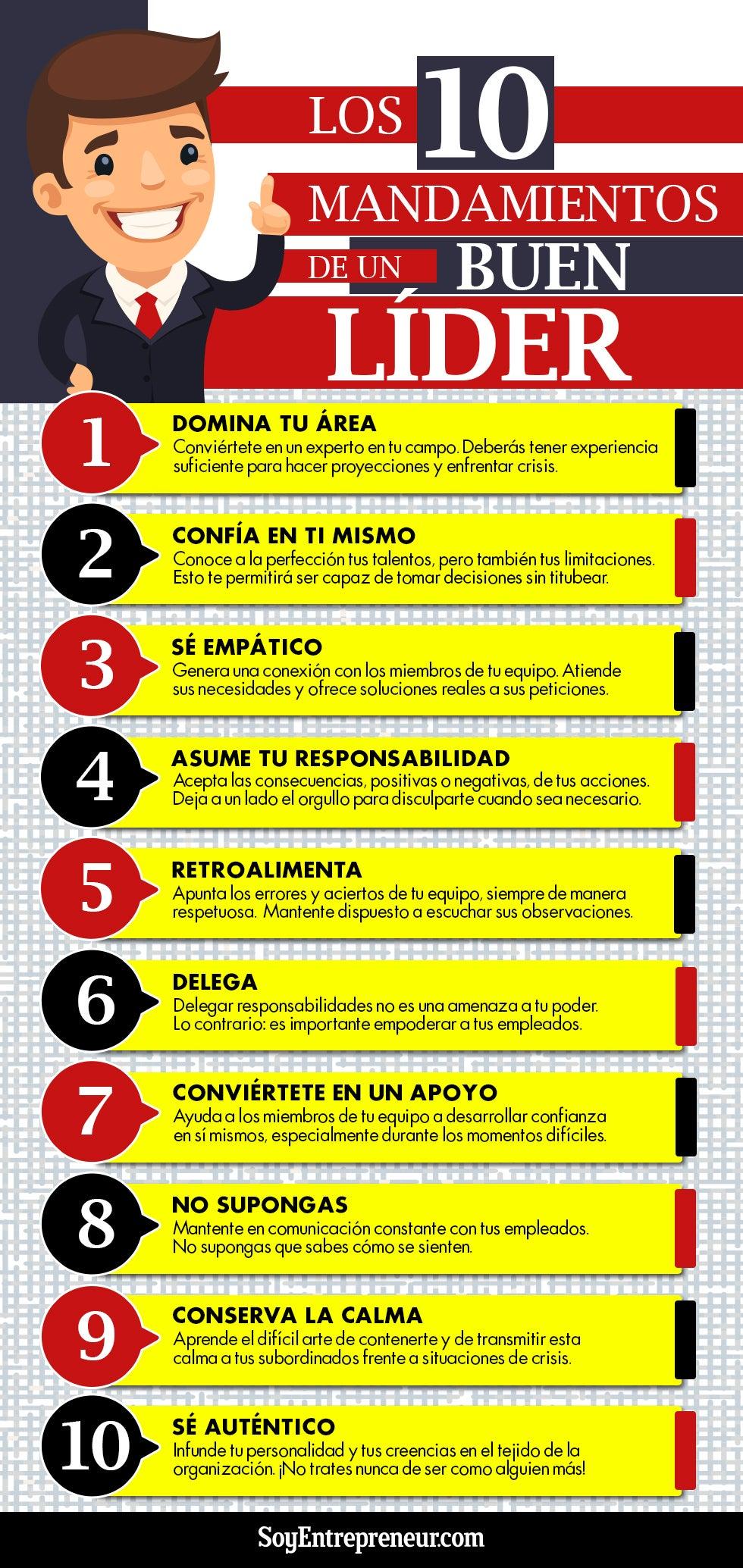 10 mandamientos de un buen líder