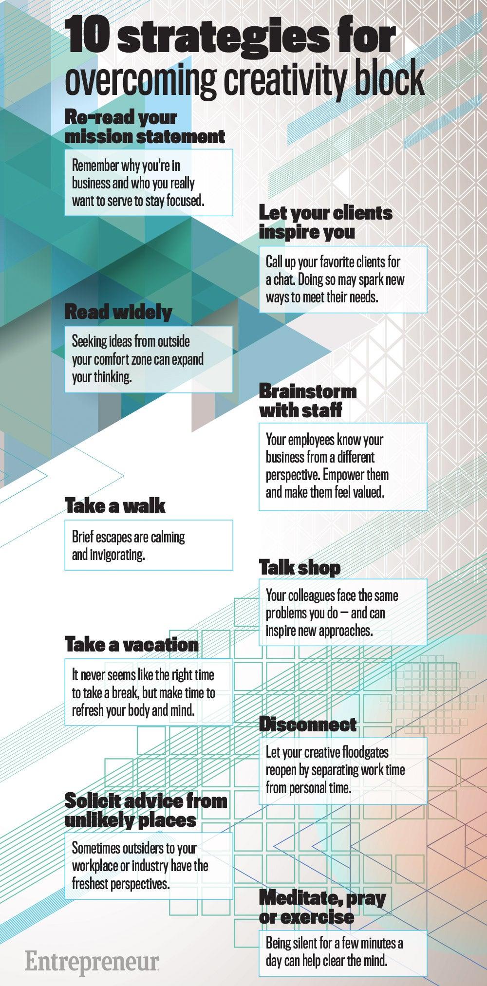 10 Strategies for Overcoming Creativity Block