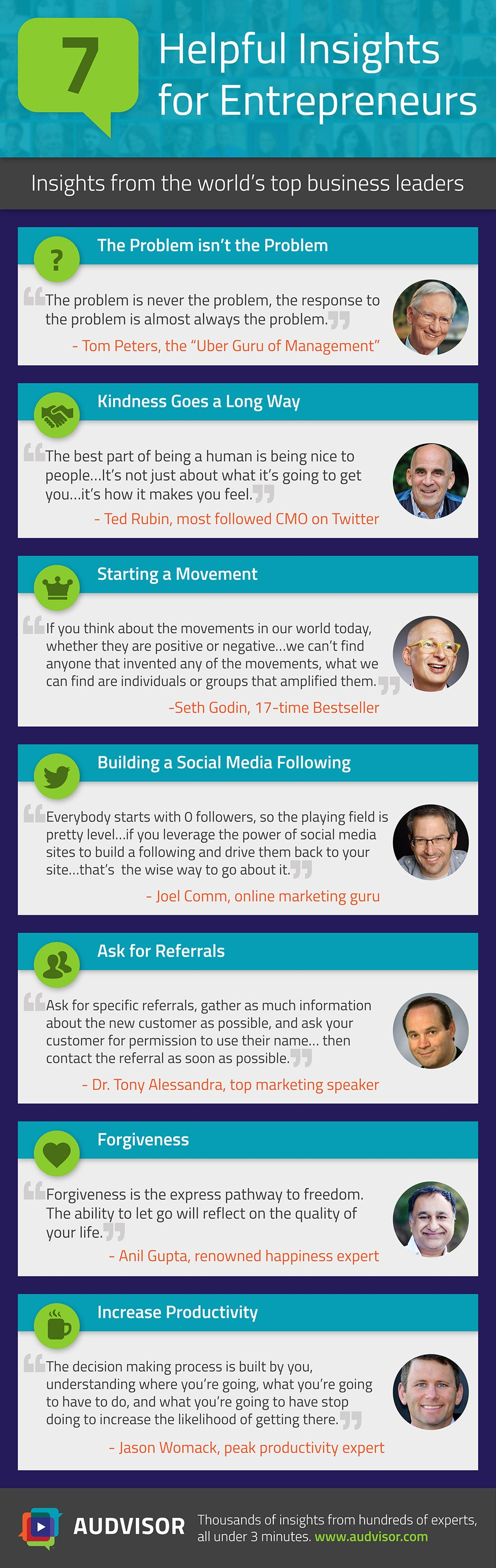 7 Key Insights From Top Business Leaders (Infographic)