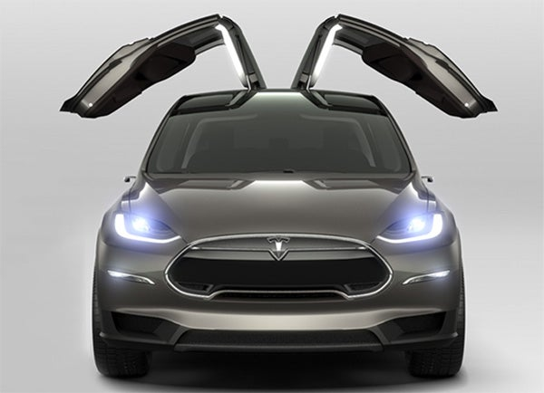 tesla 39 s new model x is a 132 000 ludicrously fast beast. Black Bedroom Furniture Sets. Home Design Ideas