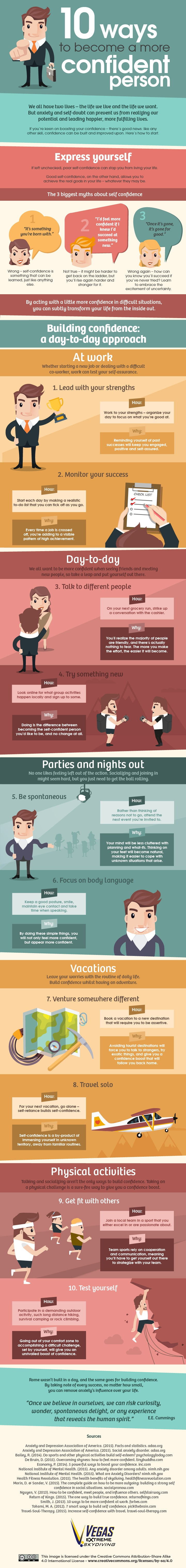 10 Ways to Become a More Confident Person (Infographic)