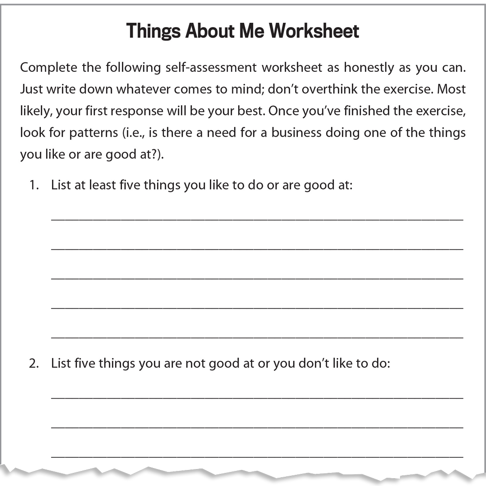 worksheet All About Me Worksheet For Adults steps to starting a small business things about me worksheet infographic