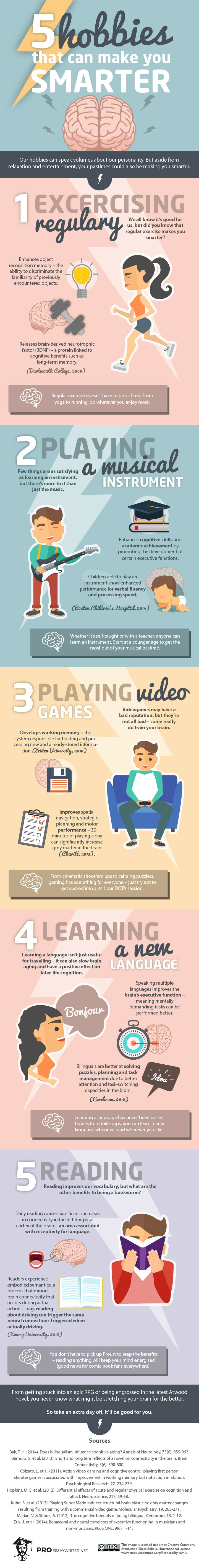 5 Hobbies That Can Make You Smarter (Infographic)