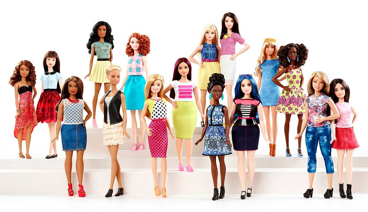 Barbie body types