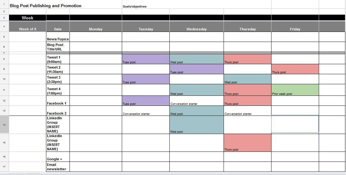 The MustUse Guide For Creating The Perfect Social Media Calendar - Hootsuite content calendar template