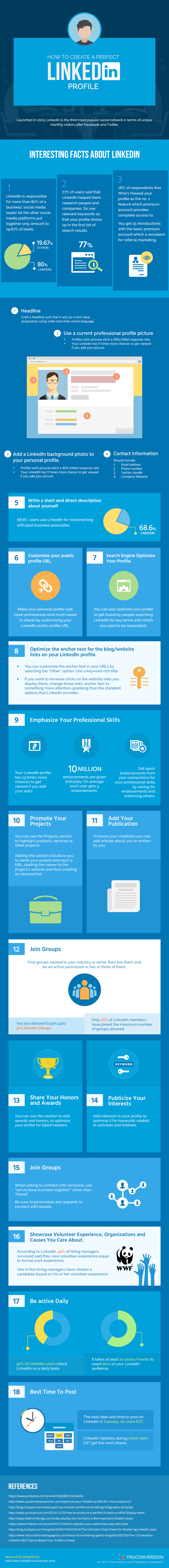 18 Tips to Create Your Perfect LinkedIn Profile (Infographic)