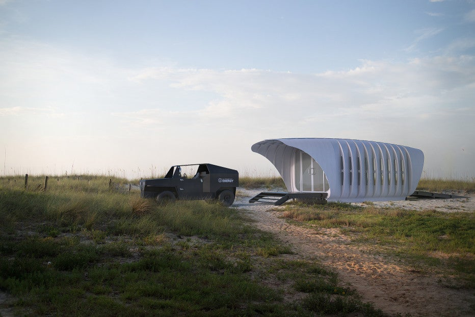 Amazing Out This Super Cool Sustainable 3 D Printed House And Car Combo Largest Home Design Picture Inspirations Pitcheantrous