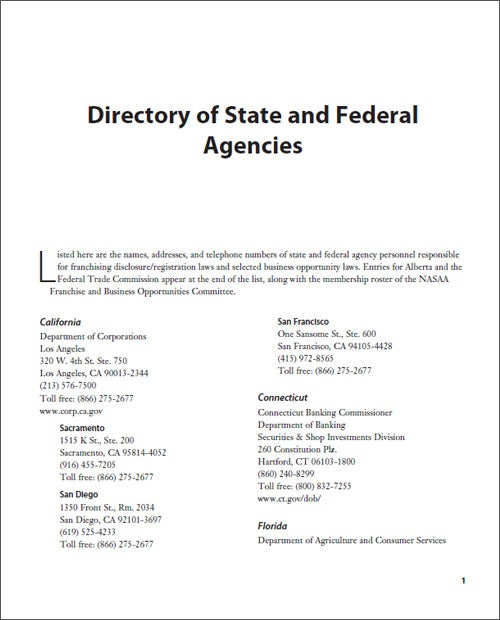 Directory of State and Federal Agencies