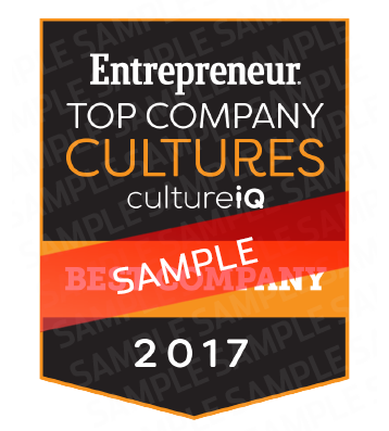 Entrepreneur Top Company Cultures Badge