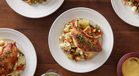 Blue Apron allows you to create delicious, chef-designed recipes at home.
