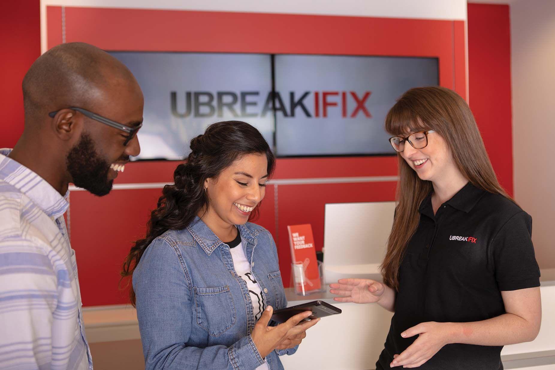UBIF employee helping customers
