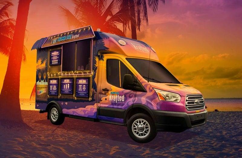 sunset Kona Ice truck