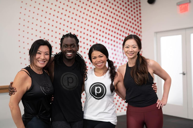 Pure Barre - Group photo from a class.