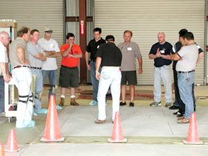 Concrete Technology - training seminar showing install techniques