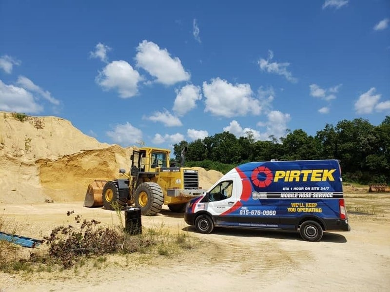 Pirtek vehicle at a construction site