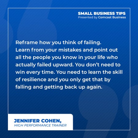 Reframe how you think of failing. Learn from your mistakes and point out all the people you know in your life who actually failed upward. You don't need to win every time. You need to learn the skill of resilience and you only get that by falling and getting back up again.