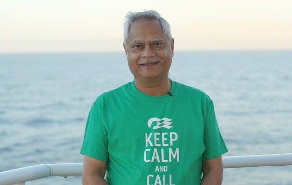 Man standing in front of the ocean