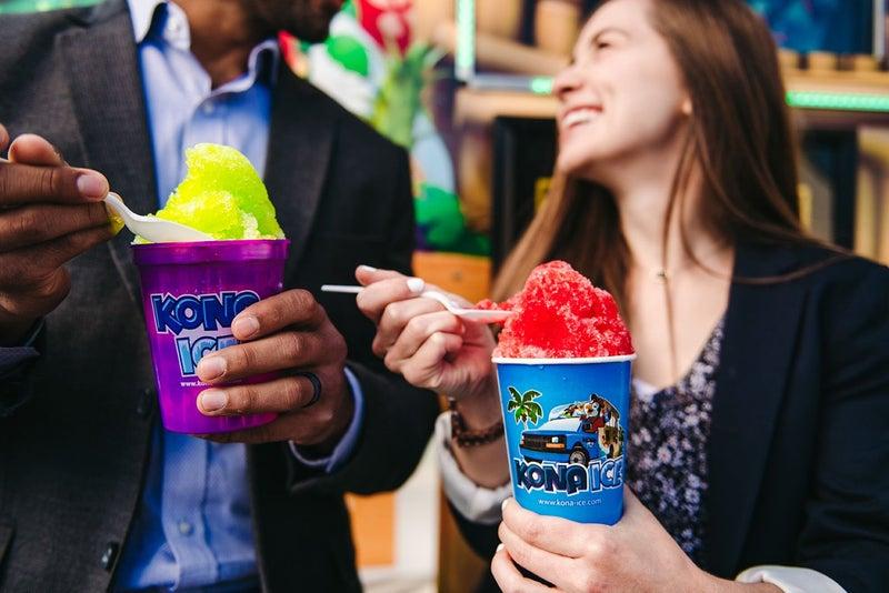 customers with Kona Ice