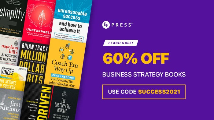 Flash Sale: 60% Off Business Strategy Books